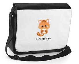 【送料無料】テキストショルダーバッグパーソナライズカスタムcat 2 personalised custom with any text cute statement shoulder bag large