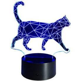 【送料無料】ネコ 猫 ネックレス ウォーキングデスクベッドサイドランプinnowill walking cat illusion usb battery powered desk bedside lamp led night 7