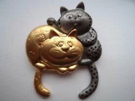 【送料無料】ネコ 猫 ネックレス ブドウdanecraft goldtonesilvertoneブローチピンvintage signed danecraft goldtonesilvertone fat cats broochpin articulated