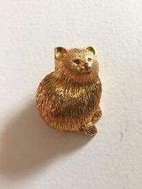【送料無料】ネコ 猫 ネックレス ビンテージブローチcute vintage fat fluffy cat brooch