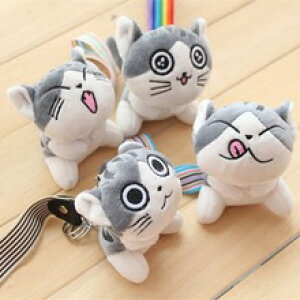 【送料無料】チーズキーチェーンキーリングcheese cat plush key chains keyrings for a woman child bag