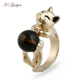 Round gold-collar ring gadget k39