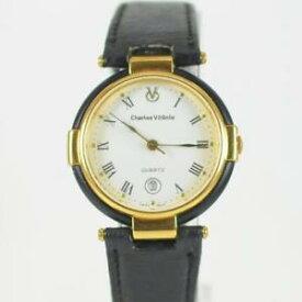 【送料無料】腕時計 ウォッチチャールズローマビンテージレディースゴールドウォッチvintage ladies charles vogele roman numeral date gold watch cv80111