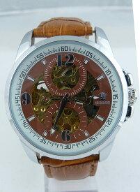 【送料無料】腕時計 ウォッチマロンドーレスmontre mcanique automatique engrenages dors contours marron steampunk