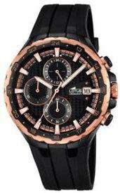 【送料無料】腕時計 ウォッチミハエルメンズスポーツクロノグラフlotus uhr by festina herren 181881 schwarz kupfer sport chronograph
