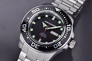 【送料無料】腕時計 ウォッチアラゴンダイブマスターウォッチaragon a064blk divemaster automatic 45mm watch