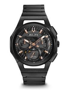 【送料無料】腕時計 ウォッチディーラーメンズクロノグラフウォッチケースauthorized dealer bulova 98a207 mens curv chronograph 44mm case watch