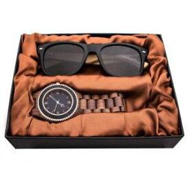 【送料無料】腕時計 ウォッチクルミサングラスセットkenon natural walnut water resistant wood watch sunglasses gift set