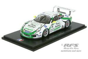 【送料無料】模型車 モデルカー スポーツカーポルシェカップカレラフランススパークporsche 911 gt3 cup mathieu jaminet carrera france 2016 143 spark sf 114