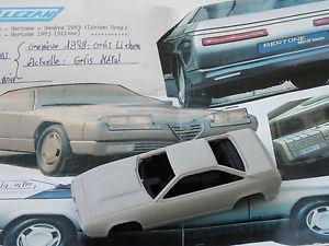 【送料無料】模型車 モデルカー スポーツカーモデルアルファロメオデルフィーノコンセプトジュネーブchestnut models 143 alfa romeo delfino concept geneve 1983
