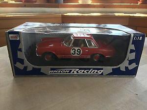 【送料無料】模型車 モデルカー スポーツカーメルセデスベンツラリーレースmercedes benz 230 sl pagoda rally red anson racing 118 ovp