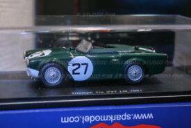 【送料無料】模型車 モデルカー スポーツカールマンスパークtriumph tr4s 27 standard triumph, gb 9 24h du mans 1961 spark 143 very ra