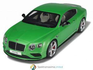 【送料無料】模型車 モデルカー スポーツカーグアテマラベントレーグアテマーペグリーンモデルカーgt spirit bentley continetal gt v8s coupe 2015 green model car 118 genuine