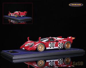 【送料無料】模型車 モデルカー スポーツカーフェラーリロッソデイトナモレッティferrari 512s squadra rosso 24h daytona 1970 morettimanfredini, looksmart 118
