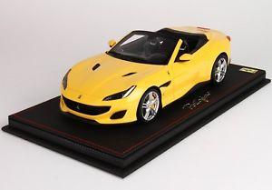 【送料無料】模型車 モデルカー スポーツカーモデルフェラーリポルトフィーノモデナbbr models p18155cferrari portofino 2017 yellow modena