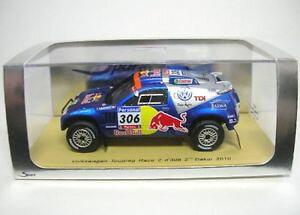 【送料無料】模型車 モデルカー スポーツカーレースダカールラリーvw touareg race 2 306 2nd rally dakar 2010