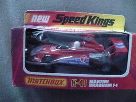 【送料無料】模型車 モデルカー スポーツカービンテージマッチスピードオリジナルボックスマティーニブラバムvintage lesney matchbox speed kings k41 martini brabham f1 in original box