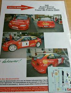 【送料無料】模型車 モデルカー スポーツカーデカールシトロエンクサラフランスラリーキットカーラリーdecals 118 ref 540 citroen xsara kit car rally cuoq heart of france 2003 rally