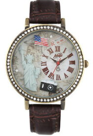 【送料無料】ニューヨークスワロフスキーウォッチdidofa donna orologio 3d york statua swarovski watch woman df1301 didof