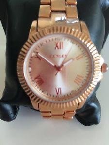 【送料無料】ブレスレットカラーゴールドブレスレットhenley donna bracciale color oro cinturino orologio ora 10