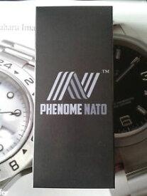 【送料無料】nuova inserzionefenomeno del lungo nato 22 blu scuro con cinturino orologio hardware lucido