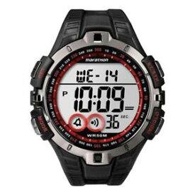 【送料無料】マラソンシリコンブラックレッドクロノアラームメートルorologio timex marathon t5k423 silicone nero rosso chrono sveglia 50mt