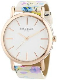【送料無料】マイクエリスニューヨークカラーmike ellis york l29795 orologio da polso donna, ecopelle, colore n0j
