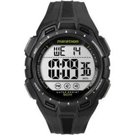 【送料無料】クロックマンマラソンシリコンデジタルブラッククロノアラームorologio uomo timex marathon tw5k94800 silicone nero digitale chrono alarm