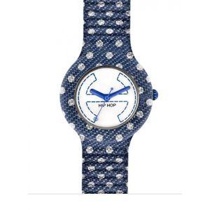 【送料無料】ヒップホップポルカドットクロックデニムジーンズウォッチhip hop pois orologio denim jeans blu hwu0403 blue watch small cassa 32 mm