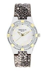 【送料無料】マイクエリスニューヨークmike ellis york orologio da polso da donna luxury al quarzo in pelle r7w