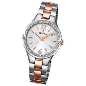 【送料無料】festina orologio donna acciaio rose mademoiselle zirconi f202471