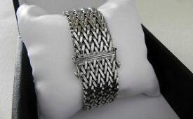 【送料無料】ブレスレット アクセサリ— gスターリングシルバーフルバーミンガムブレスレットstar quality hefty 71g sterling silver 925 full hm birmingham 1975 bracelet