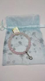 【送料無料】ブレスレット アクセサリ— ローズクォーツスターリングシルバーハートチャームブレスレットrose quartz sterling silver heart charm bracelet