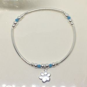 【送料無料】ブレスレット アクセサリ— スターリングシルバースワロフスキークリスタルブレスレットsterling silver swarovski crystals bracelet 15cms girls ladies paw charm gift