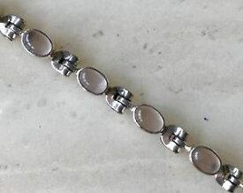 【送料無料】ブレスレット アクセサリ— ローズクォーツスターリングシルバーブレスレットlovely rose quartz gemstone amp; 925 sterling silver bracelet