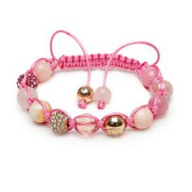 【送料無料】ブレスレット アクセサリ— ピンクシェルローズクォーツゴールドマイクロクリスタルブレスレットzebredellas pink shell rose quartz gold micro pave crystal gemstone bracelet