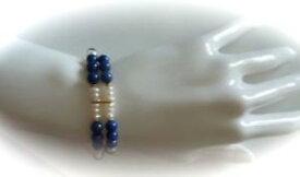 【送料無料】ブレスレット アクセサリ— ターコイズブレスレットpast times freshwater pearl and lapiz lazuli bracelet