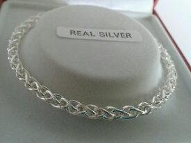 【送料無料】ブレスレット アクセサリ— スターリングシルバーレディースソリッドブレスレットインチsterling silver ladies solid spiga bracelet 75 inch 94g hallmarked