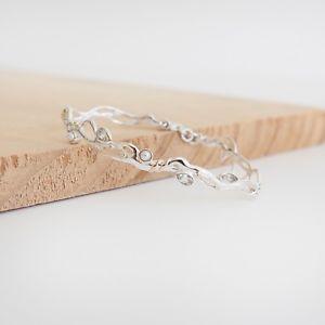 【送料無料】ブレスレット アクセサリ— ブレスレットスターリングシルバーグリーンアメジストmaeve * organic bracelet * sterling silver * organic jewelry * green amethyst *