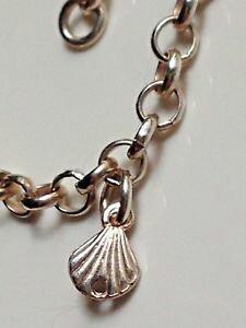 【送料無料】ブレスレット アクセサリ? スターリングシルバーシーシェルブレスレットブレスレットsterling silver 925 bracelet with sea shell and heart charms bracelet love x