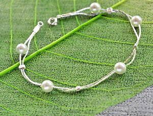【送料無料】ブレスレット アクセサリ? スターリングシルバーホワイトサウスシーシェルブレスレット925 sterling silver white south sea shell bracelet pearls wedding