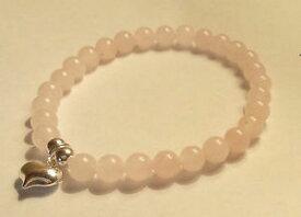 【送料無料】ブレスレット アクセサリ— ブレスレットローズクォーツ925 sterling silver gemstone bracelet rose quartz with heart butterfly charm