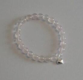 【送料無料】ブレスレット アクセサリ— ローズクォーツストレッチブレスレットrose quartz stretch bracelet with sterling silver charm