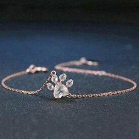 【送料無料】ブレスレット アクセサリ— ローズクォーツブレスレットbears paw rose quartz sterling silver charm bracelet