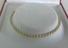 【送料無料】ブレスレット アクセサリ— ゴールドレディースブレスレットグラムインチ9ct gold ladies spiga bracelet 37 grammes 7 inch hallmarked