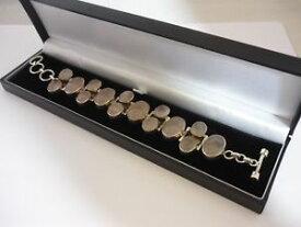 【送料無料】ブレスレット アクセサリ— ビンテージローズクォーツガーネットスターリングシルバーブレスレットstunning, unique large vintage rose quartz amp; garnet sterling silver bracelet