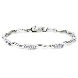 【送料無料】ブレスレット アクセサリ— スターリングシルバータンザナイトシルバースワールブレスレットインチsterling silver 925 genuine natural tanzanite and silver swirl bracelet 7 inch