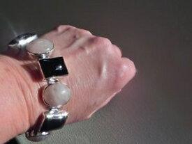 【送料無料】ブレスレット アクセサリ— gスターリングシルバーオニキスローズクォーツブレスレットutterly charming 39g sterling silver 925 onyx amp; rose quartz gemstone bracelet