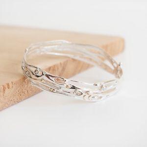 【送料無料】ブレスレット アクセサリ— ブレスレットスターリングシルバーグリーンアメジストjustine * organic bracelet * sterling silver * organic jewelry * green amethyst