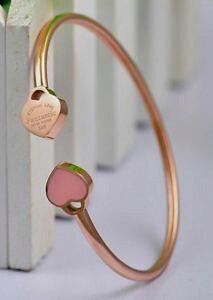 【送料無料】ブレスレット デザイナーピンクハートブレスレットゴールドブレスレットピンクスチールブレスレットdesigner inspired rosa cuore braccialetti bracciale oro rosa acciaio bracciali * u